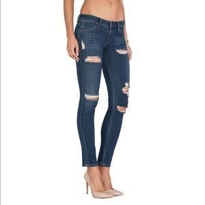 AGOLDE Chloe Distressed Low Rise Skinny Jean